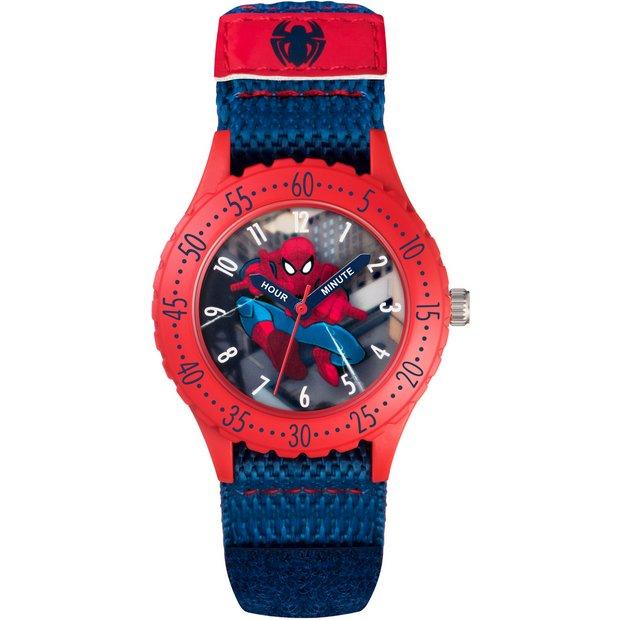 a37b1792a Buy Marvel Spider-Man Time Teacher Blue Velcro Strap Watch