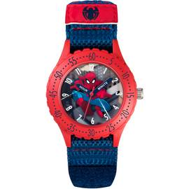 Marvel Spider-Man Time Teacher Blue Velcro Strap Watch