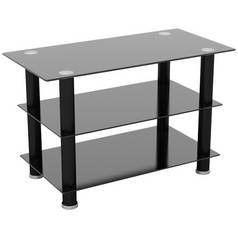 AVF Glass up to 40 Inch TV Stand - Black