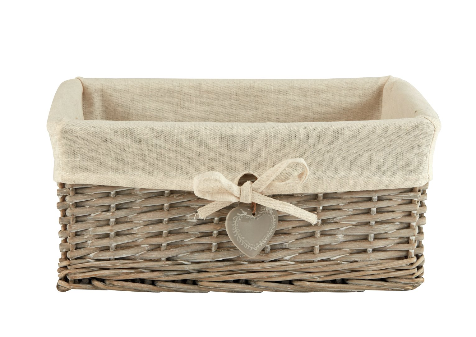 Sainsburyu0027s Home Wicker Basket   Grey
