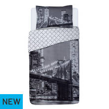Argos Home New York Skyline Duvet Cover Set - Single