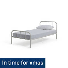 Argos Home Charlie Single Metal Bed Frame - White