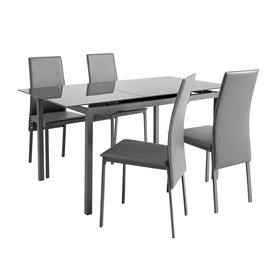 Argos Home Lido Glass Extending Dining Table & 4 Chairs