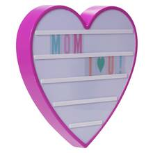 Pretty Pink Light Up Heart Message Board