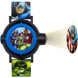 Marvel Avengers Digital Projection Multicoloured Strap Watch