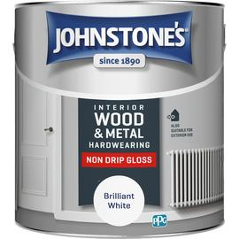 Johnstone's Non Drip Gloss Paint 2.5L - Brilliant White