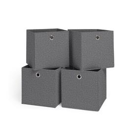 Habitat Set of 4 Felt Squares Boxes - Grey