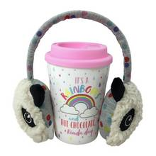 Rainbow Daydream Travel Mug and Ear Muffs