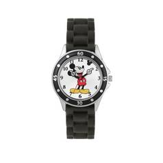 Disney Mickey Mouse Black Silicone Strap Watch