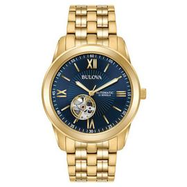 Bulova Men's Gold Plated Stainless Steel Watch