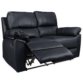Argos Home Toby 2 Seater Faux Leather Recliner Sofa - Black