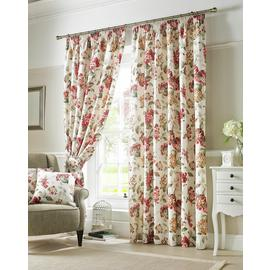 Ashley Wilde Carnaby Pleat Curtains - 229x229cm - Chintz