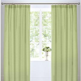 Dreams N Drapes Botanique Lined Curtains 168x183cm - Green.