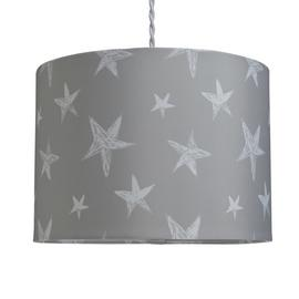 Argos Home Star Print Shade - Grey
