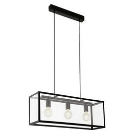 Eglo Charterhouse 3L Bar Pendant Light - Black