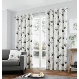 Fusion Kiera Lined Curtains - 229x229cm - Grey