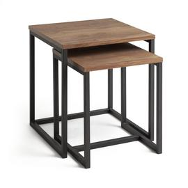 Habitat Nomad Nest of Tables - Oak Effect