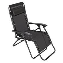 Argos Home Metal Set of 2 Sun Lounger Chairs - Black