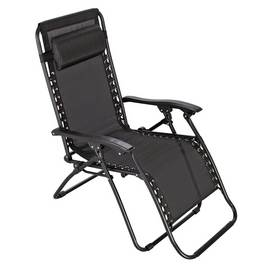 9e196bbe5147 Argos Home Metal Set of 2 Sun Lounger Chairs - Black