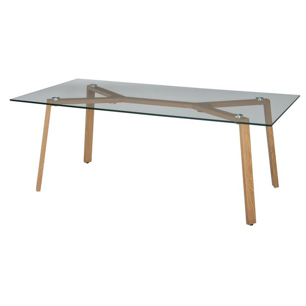 Buy Argos Home Helena Coffee Table Glass And Oak Effect Coffee Tables Argos
