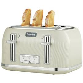 Breville VTT891 Flow 4 Slice Toaster - Cream