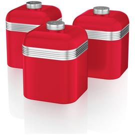 Swan Retro Canisters - Red