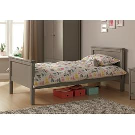 Argos Home Brooklyn Grey Single Bed & Mattress