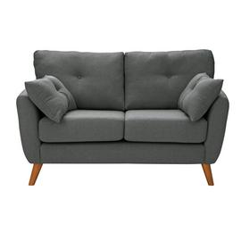 Argos Home Kari 2 Seater Fabric Sofa - Charcoal
