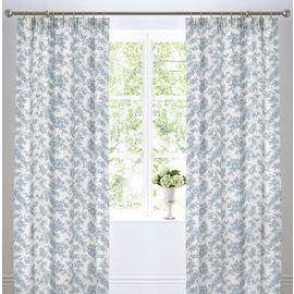 Dreams N Drapes Malton Lined Curtains - 168x183cm - Blue