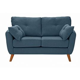 Argos Home Kari 2 Seater Fabric Sofa - Blue