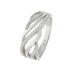 Revere Sterling Silver Cubic Zirconia Wave Ring