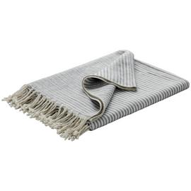 Habitat Corbin Stripe Throw 130x170cm - Grey