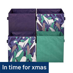 Argos Home Pack of 4 Canvas Boxes - Camo