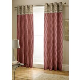 Catherine Lansfield Kashmir Cotton Curtains - 168x183cm