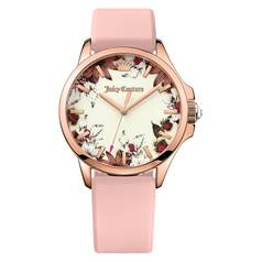 Juicy Couture Ladies' Jetsetter Floral Dial Pink Strap Watch