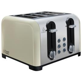 Russell Hobbs 22408 Worcester 4 Slice Toaster - Cream