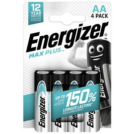 Energizer Max Plus AA Alkaline Batteries - Pack of 4