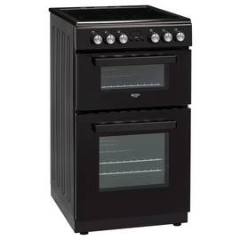 Bush DHBFEDC50B 50cm Double Oven Electric Cooker - Black