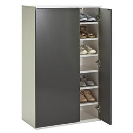 Argos Home Cologne Mirror Shoe Storage Cabinet - Grey Gloss