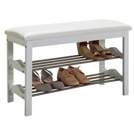 Argos Home Emilia 2 Shelf Shoe Rack - White & Chrome