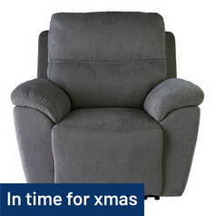 Argos Home Sandy Power Recliner Chair - Charcoal
