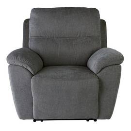 Argos Home Sandy Fabric Power Recliner Chair - Charcoal