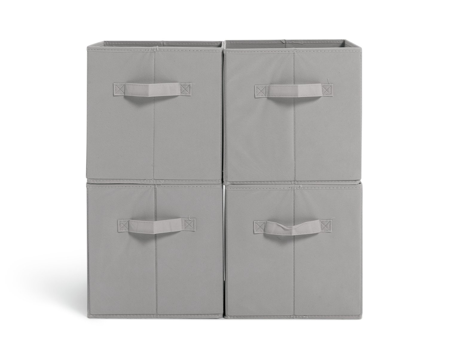 Argos Home Pack Of 4 Canvas Box   Grey