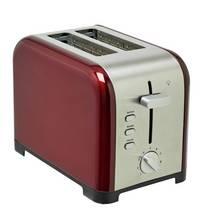 Cookworks Metal Bullet 2 Slice Toaster - Red