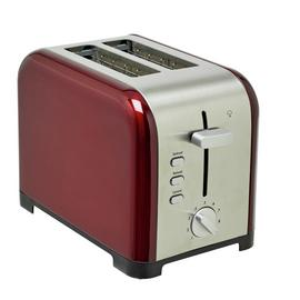Cookworks Metal Bullet 2 Slice Toaster - Red