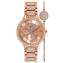 Spirit Lux Ladies' Rose Glitter Dial Watch and Bracelet Set