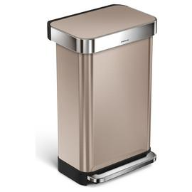 simplehuman 45 Litre Liner Pocket Kitchen Bin - Rose Gold