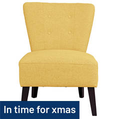 Argos Home Delilah Cocktail Chair - Yellow