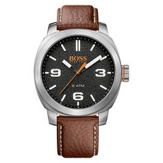 Hugo Boss Orange Cape Town 1513408 Brown Leather Strap Watch