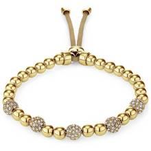 Buckley Gold Colour Pimlico Crystal Bead Slider Bracelet